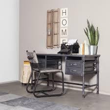 bureau stylé bureau style industriel en métal