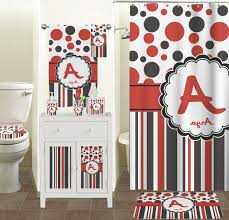 red and black bathroom wall decor transparent plastic curtain