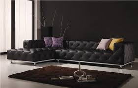 Black Modern Leather Sofa Living Rooms With Leather Sofa Designs