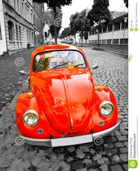 volkswagen old red old red car stock image image of classic brick grill 6971361