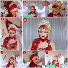 tutorial hijab syar i untuk pernikahan tutorial hijab kebaya pengantin muslim modern 2 kebaya wedding