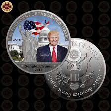 donald trump white house decor wr silver coin american 45th president donald trump coin us white