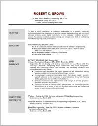 Resume Objective For Job by Sample Of Resume Objective Resume Cv Cover Letter