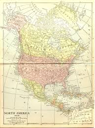 North America Maps by North America 1914 Full Size
