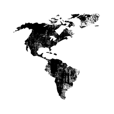 map of and south america black and white south america icon 023307 icons etc