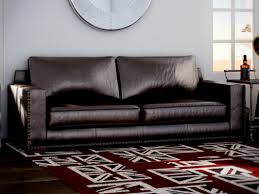 Leather Sofa Bed Charla 90