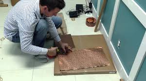 install lay in solid copper ceiling tiles youtube