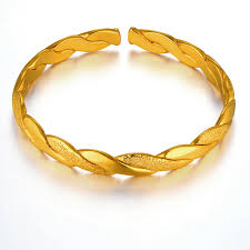 gold bangle bracelet yellow images Fashion simple bangles gold color for women cute baby gift love jpg