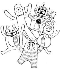 yo gabba gabba coloring pages puppets coloringstar