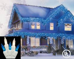 blue white christmas lights amazon com set of 100 blue and clear frosted icicle christmas
