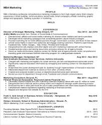Mba Marketing Resume Sample by Sample Mba Resume 7 Examples In Word Pdf