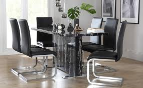 6 Black Dining Chairs Glamorous Inspiring Black Dining Table And Chairs With On