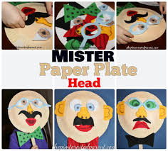 mr paper plate head mask u2013 the pinterested parent