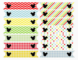 free printable mickey mouse clubhouse inspired straw flags