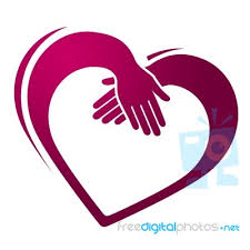 friendship heart holding shows heart shape and friendship stock image