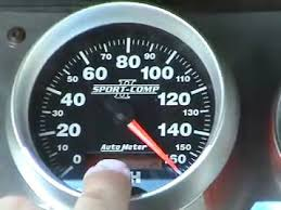 auto meter programmable electric speedometer youtube