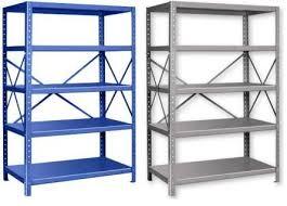 Industrial Metal Bookshelf Great Industrial Metal Shelves Pair Of Orange Metal Industrial