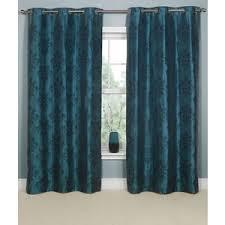 Teal Damask Curtains Linea Ikat Damask Teal Curtains 164x137cm Polyvore