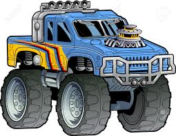 monster trucks video clips cartoon illustration of a monster truck royalty free cliparts