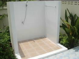 Outdoor Pool Showers - outdoor bathroom and open shower for your thai garden thai