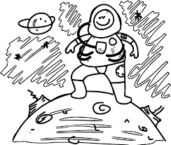astronaut boy dream coloring page wecoloringpage