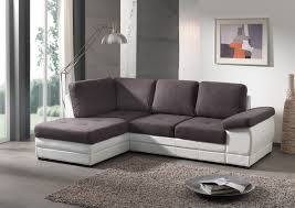 canap en l canapé d angle contemporain convertible en tissu coloris gris foncé