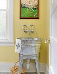 Sinks For Laundry Rooms by Laundry Room With Vintage Galvanized Sink With A Hansgrohe Axor