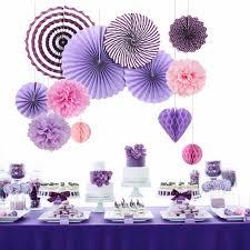 s decorations 7pieces a set lovely party decor purple theme s