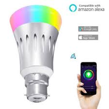 amazon echo compatible lights b22 7w smart wifi light rgb led bulb app remote control for amazon