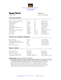 Child Actor Resume Template Acting Modeling Resume Sample Examples Child Model Samples Example