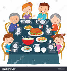 95 family dinner clipart black and white a black and white