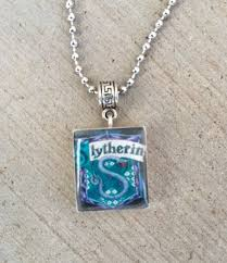 necklace charm designs images Slytherin house crest necklace harry potter themed scrabble tile jpg