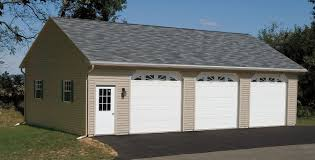 Single Car Garages by Built On Site Custom Amish Garages In Oneonta Ny Amish Barn Company