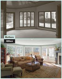 before after historic colonial family room renovation room