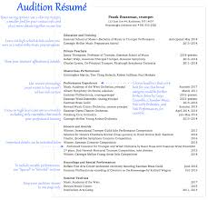 Music Resume Template Music Resume Examples Contact Your Favorite Musicians Free At