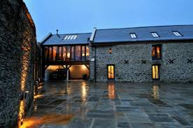 Barn Conversions For Sale In Northamptonshire Barn Conversion With Oak Frame Extension In Devon Night Time