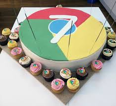 google chrome turns 7 years old here is the birthday cake