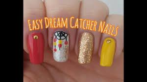freehand cloud design nail art tutorial easy dream catcher nail art nail design tutorial stephyclaws