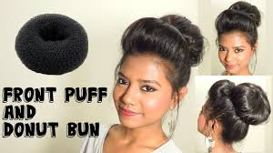 front poof hairstyles front poof and donut bun hair tutorial medium long hairstyles