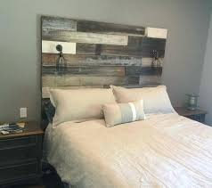 Wood Headboard Diy Weathered Wood Queen Headboard Weathered Wooden Headboard