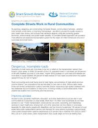 complete streets rural areas and small towns smart growth america