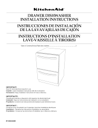 Download Free Pdf For Kitchenaid Kudd03dtss Dishwasher Manual