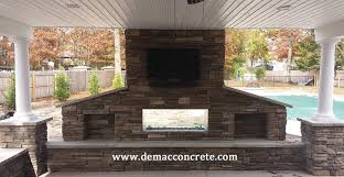 Sided Outdoor Fireplace - fireplaces firepits