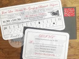 ticket wedding invitations hadley designs vintage ticket wedding invitations