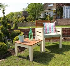 Cream Garden Bench Garden Arm Chair Charles Bentley Kingston