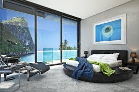 chambre des m騁iers du cher chambre à coucher moderne avec vue sur une crique magnifique d océan