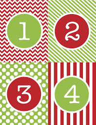 advent calendar number printables christmas countdown advent