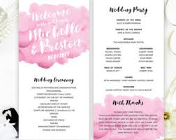 cheap wedding ceremony programs cheap programs etsy