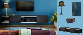 Media Room Furniture Ikea - bestå wall mounted storage combination with sliding doors in black