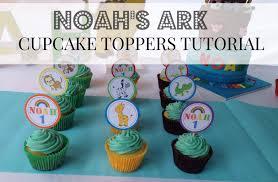 Noah S Ark Decorations Diy Noah U0027s Ark Cucpake Topper Tutorial Plus Free Printables Youtube